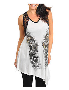 White Sublime Tunic by alight