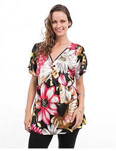 Pink Tropical Smocked Tunic by alight