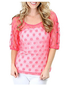 Pink Hot Dot Top by alight