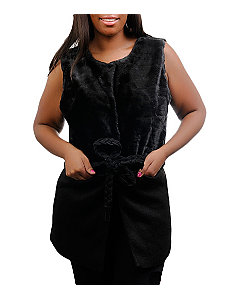 Black Faux Fur Vest by alight