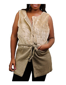 Khaki Faux Fur Vest by alight