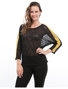 Gold Sequin Sleeve Top by alight
