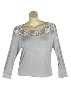 Burgandy Lace City Top by alight