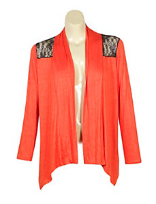 Nice Lace Back Cardigan by alight