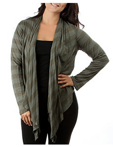 Olive Stripe Open Cardigan by alight