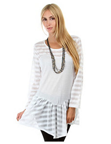 Stripe Peplum Tunic by alight