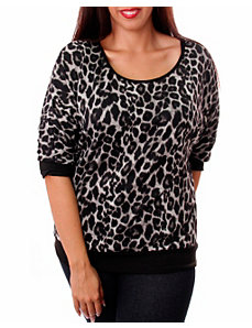 Black Bay Animal Print Top by alight
