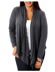 Charcoal Lace Back Cardigan by alight