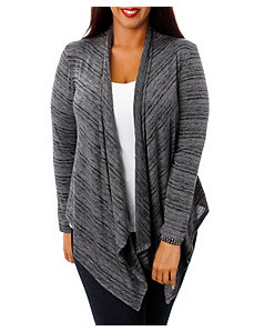 Heather Grey Lace Back Cardigan by alight
