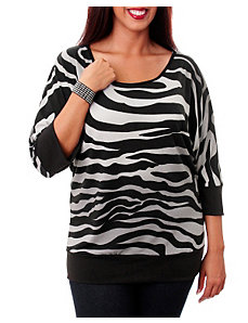 Zebra Zoo Top by alight