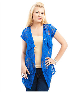Blue Crocheted Cardigan by alight