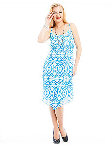 Blue Print High Low Dress by alight