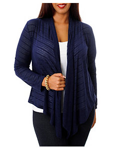 Navy Lace Back Cardigan by alight