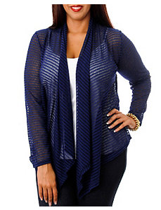 Stripe Lace Back Cardigan by alight