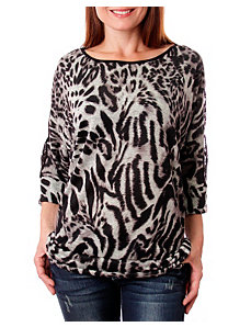 Lace Animal Print Top by alight