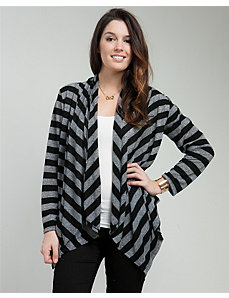Charcoal Striped Cardigan by alight