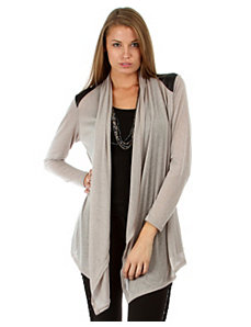 Open Cardigan With Shoulder Accents by alight