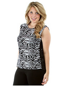Zebra Top With Chiffon Back by alight