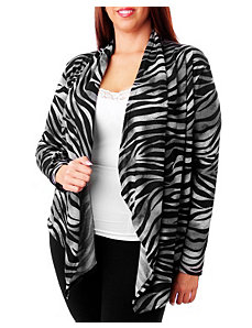Zebra Lace Back Cardigan by alight