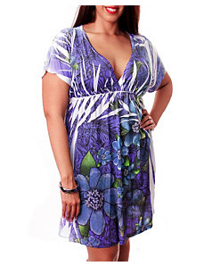 Groovy Purple Dress by alight