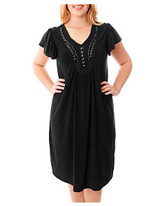 Black Embellished Dress by alight