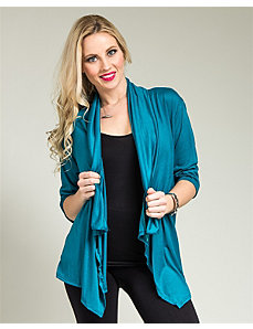 Turquoise Lace Back Cardigan by alight