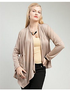 Khaki Lace Back Cardigan by alight