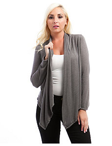 Light Grey Lace Back Cardigan by alight
