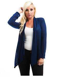 Navy Now Lace Back Cardigan by alight