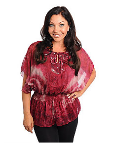 Burgundy Stones Chiffon Top by alight