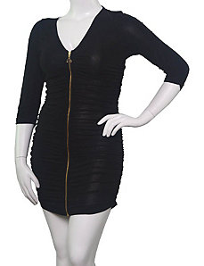 Black Full Zipper Dress by alight