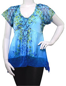 Blue Ocean Wave Top by alight