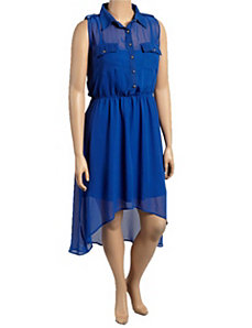 Blue Hi Low Chiffon Dress by alight