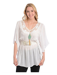 White Belted Tunic Top by alight
