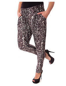 Black Cheetah Pants by alight