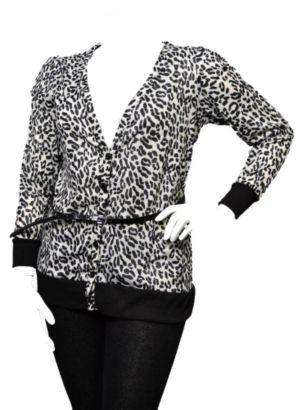 Cheetah Print Belted Top