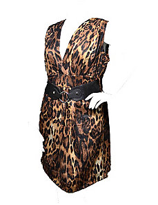 Belted Leopard Dress by alight