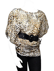 Belted Leopard Top by alight