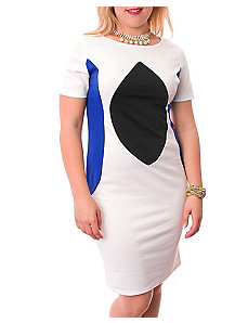 Color Block White Dress by alight