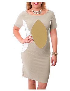 Color Block Khaki Dress by alight