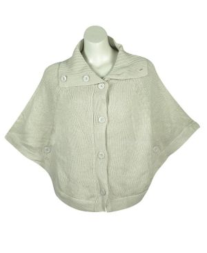 Tan Button Down Poncho