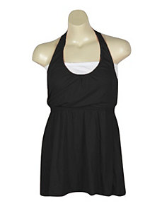 Black Hello Halter Dress by Extra Touch