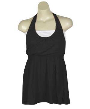 Black Hello Halter Dress