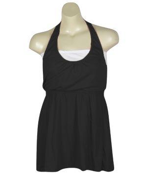 Black Hello Halter Dress