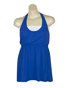 Blue Hello Halter Dress by Extra Touch