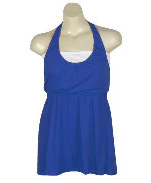Blue Hello Halter Dress
