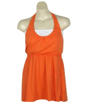 Orange Hello Halter Dress