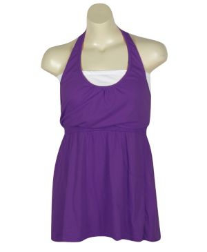 Purple Hello Halter Dress