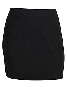 Black Sweater Skirt by Extra Touch