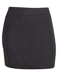Grey Sweater Skirt by Extra Touch